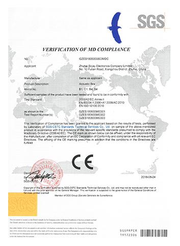 GZES1806009803MD MD VOC CE 证书